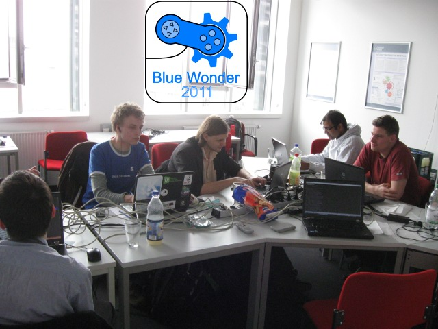 Happily hacking away at the KDE Games Blue Wonder sprint